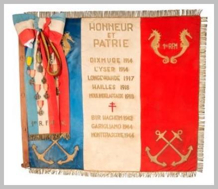 * 1er bataillon de fusiliers marins  -  Forces Navales de la 1 ère DFL   les fusiliers-marins du front italien