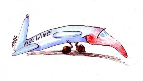 Humour et vigne voyage airline