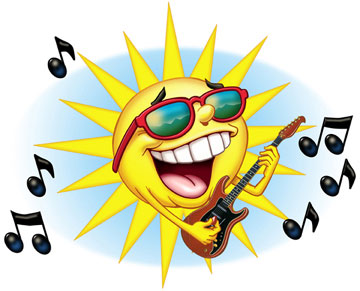 gif soleil chante