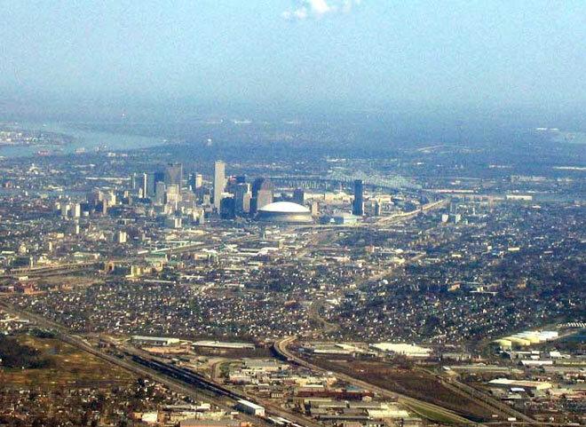 Vue aérienne de la Nouvelle-Orléans