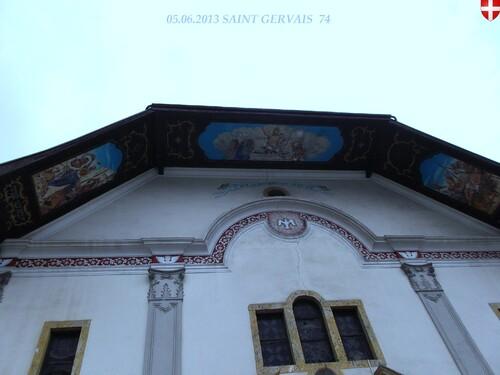 VACANCES: 2013 PRAZ SUR ARLY 74 SAINT GERVAIS  74  l'église  11/08/2013