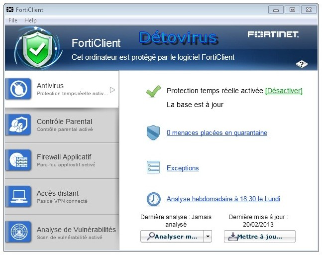 FortiClient Lite 5.0