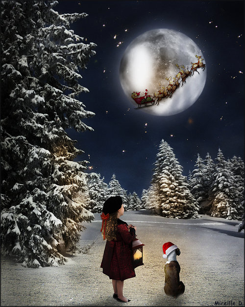 Fillette de  Noël (Photomontage)
