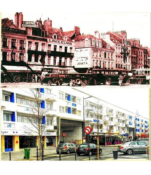 La place d'Armes et la rue du Havre