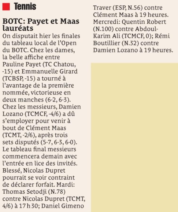 Payet et Maas lauréats