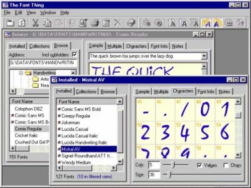 Visualiser les polices de caractères