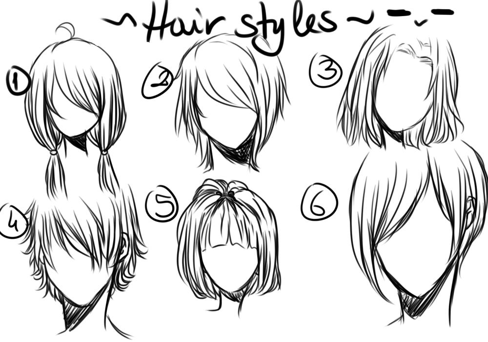 Comment dessiner les coiffures le pays du manga - Comment dessiner des manga fille ...