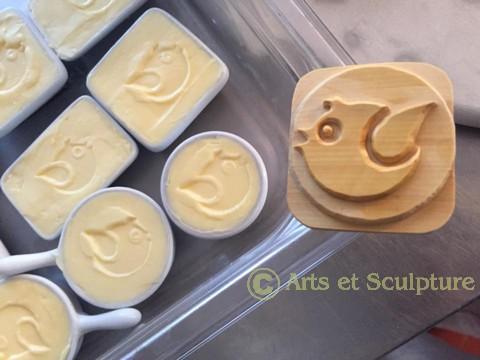 poinçon à beurre personnalisé réalisé pour l'Hôtel La Jabotte - Arts et Sculpture, sculpteur sur, artisan d'art