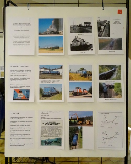 Souvenirs d'une exposition sur l'arrivée du train à Châtillon sur Seine...