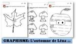 MATERNELLE-GRAPHISME-AUTOMNE-la chouette- graphisme décoratif