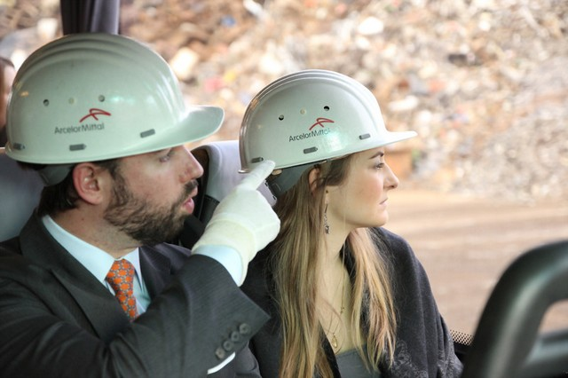 Visite de l'usine Arcelor-Mittal de Differdange