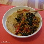 Porridge salé de sarrasin et légumes poêlés