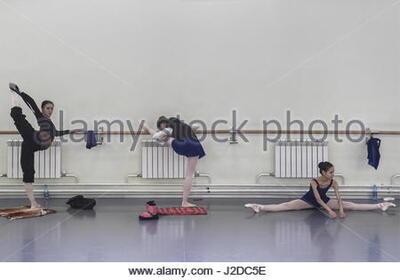 dance ballet class practice during novosibirsk russian classical ballet