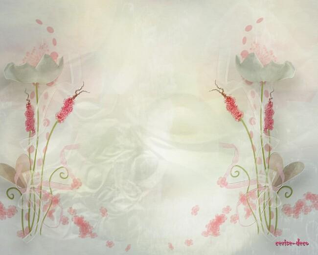design fleuri rose et blanc