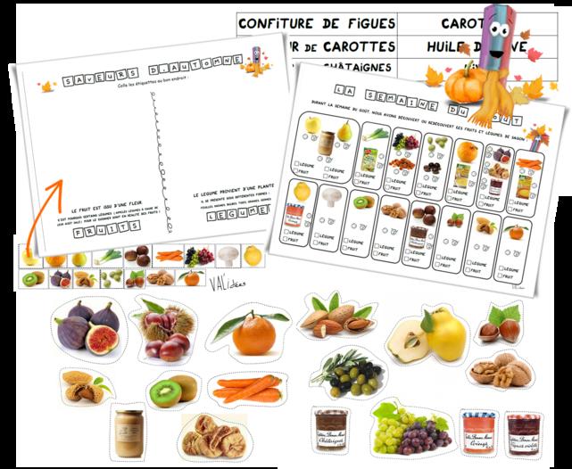 Semaine du goût - fruits et légumes d'automne