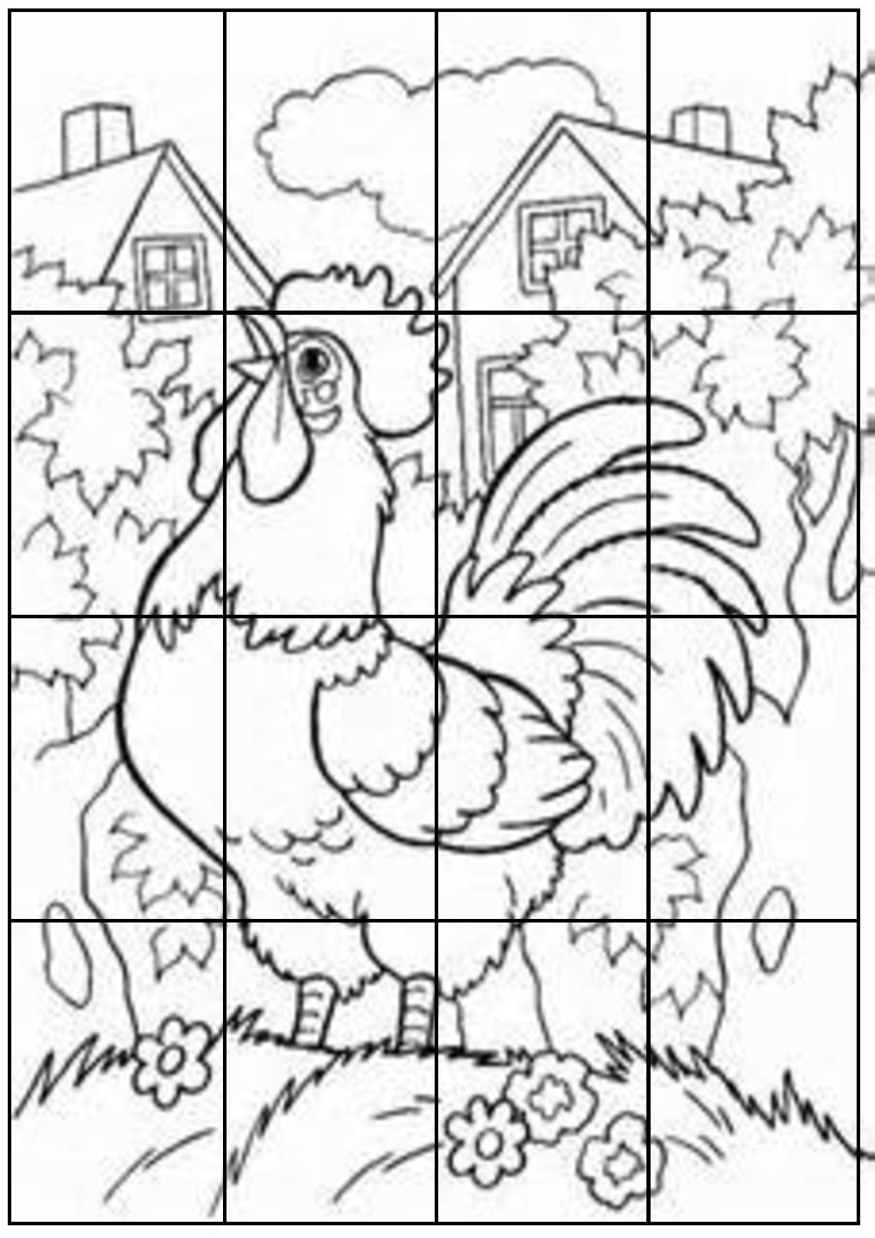 Puzzles à découper et à colorier,puzzles CP, CE1,animaux