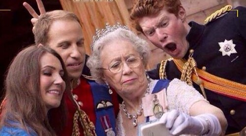 Selfie de la reine du Grand Bretagne Quand Elizabeth II