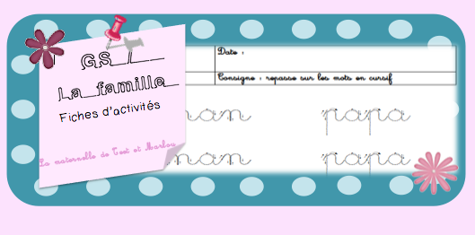 travail grande section maternelle
