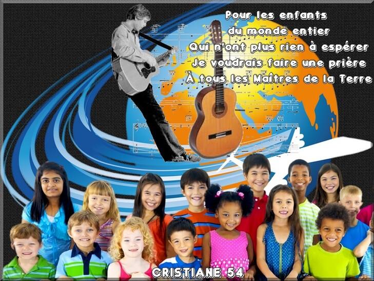 Pour les enfants du monde entier défi partage Yves Duteil !!