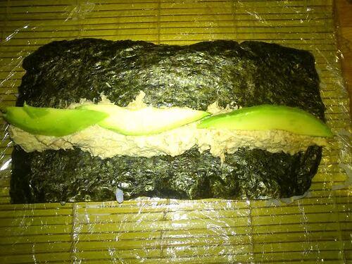 Maki concombre/fromage ou thon/avocat...tjs mon inspiration japonaise