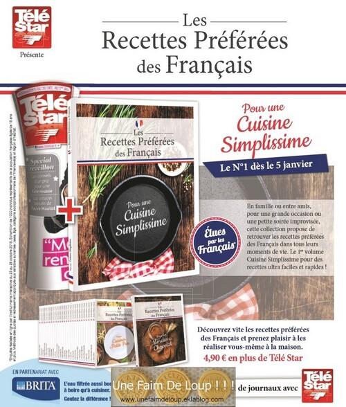 """Collection """" Les recettes préférées des français """""""