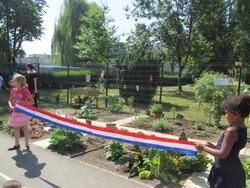 Inauguration du potager de l'école : du soleil dans les coeurs !