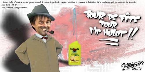 JERC 2016-02-09, caricature Nicolas Hulot, Hollande prends un décHulottée !!! www.facebook.com/jercdessin Cliquer sur la photo pour voir en plus grand.