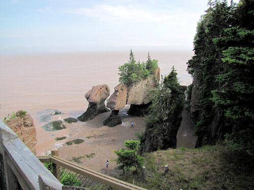 Les plus hautes marées au monde, au Canada