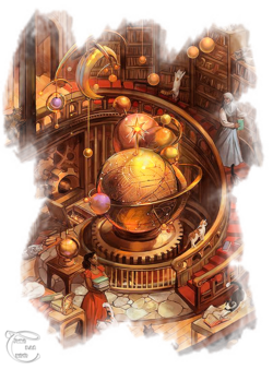 Myst paysage steampunk