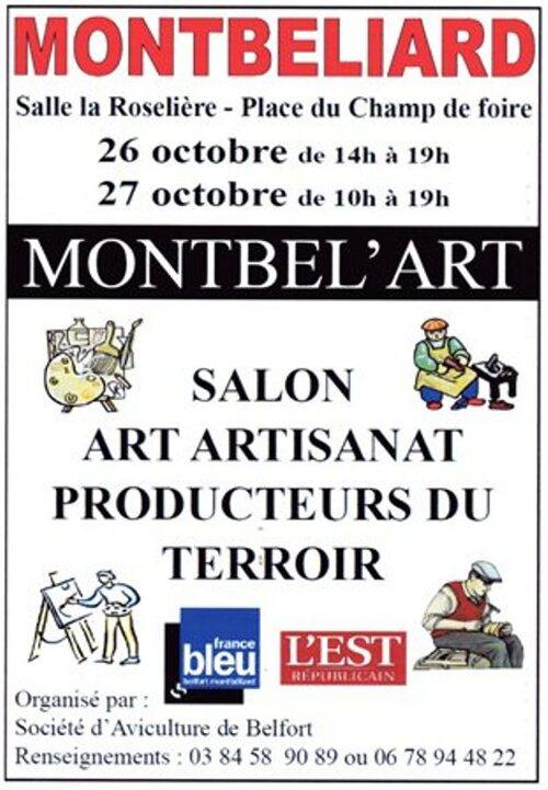 Salon Art et Artisanat Montbel'Art à Montbéliart