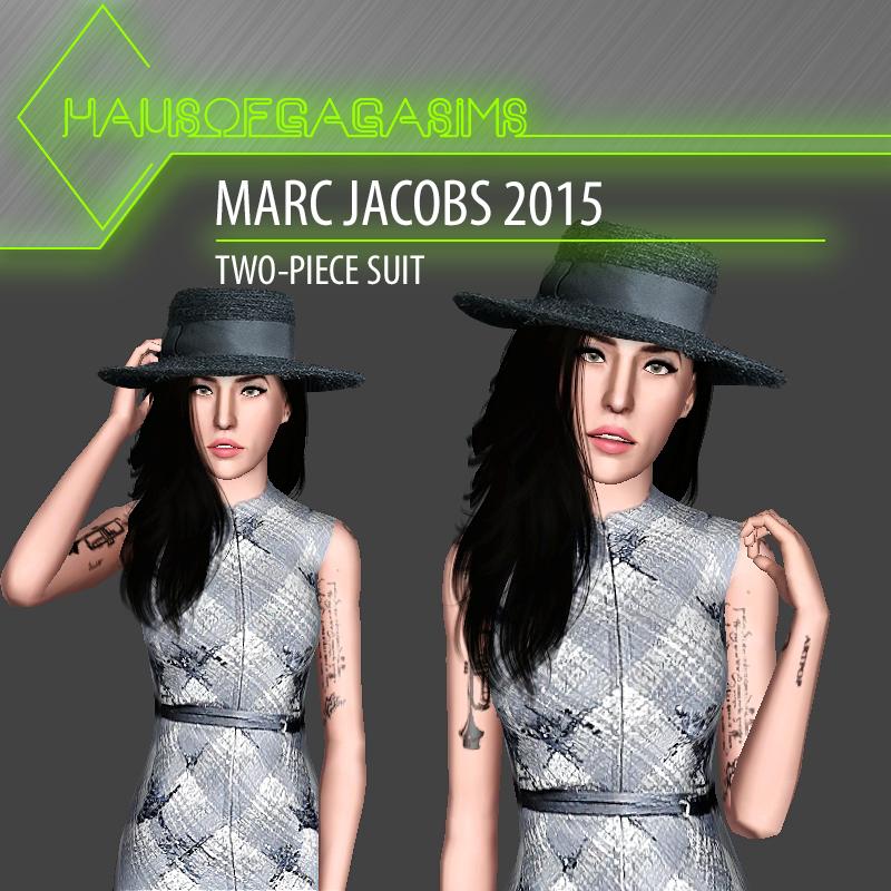 MARC JACOBS 2015 TWO-PIECE SUIT