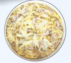 pasta au bleu et Lardon