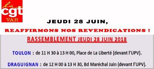 Rassemblements du 28 Juin