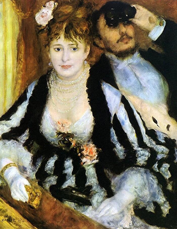 Renoir /10/  1874 - son chef d'oeuvre de l'année : la loge