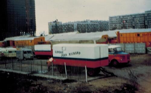 les cirques Jean Richard et Pinder Jean Richard à la Défense en 1972- 1ère partie