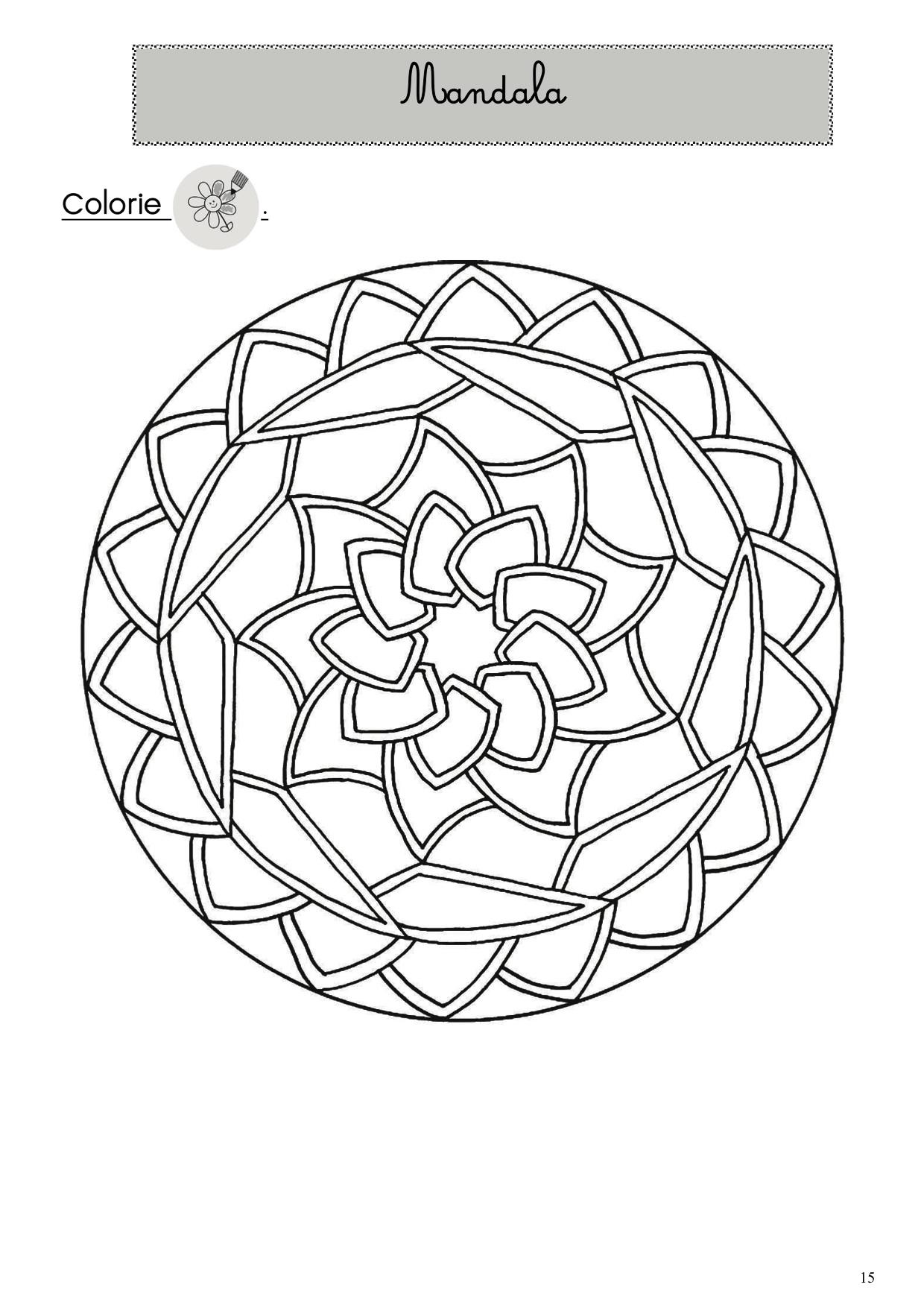 Coloriage Mandala Cp Imprimer.Cahier D Autonomie La Classe De Luccia