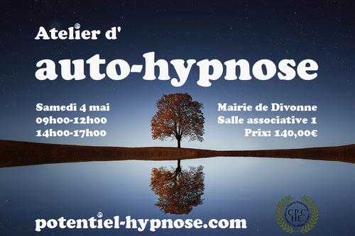 Atelier d'auto-hypnose le 4 mai à Divonne 01220