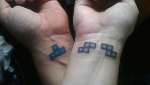 tatouage couple tetris