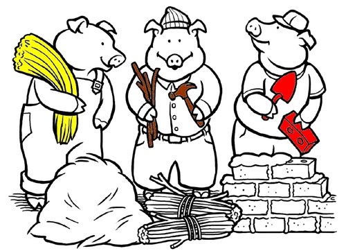 3 petits cochons : compréhension de l'histoire