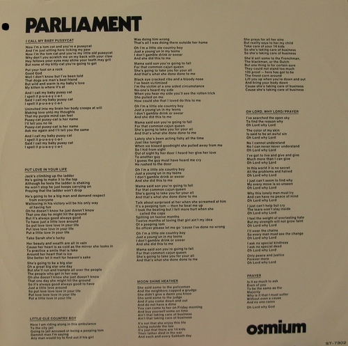"Parliament : Album "" Osmium "" Invictus Records ST-7302 [ US ]"