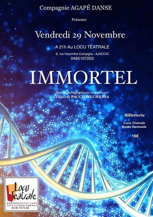 "Le 29 Novembre- AGAPÉ ""IMMORTEL"""