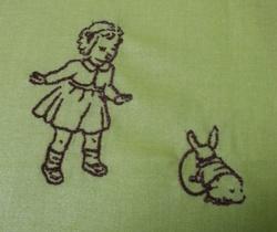 La fillette et le lapin.