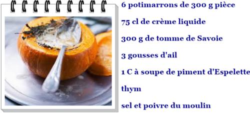 Potimarrons crèmeux à la tomme de Savoie