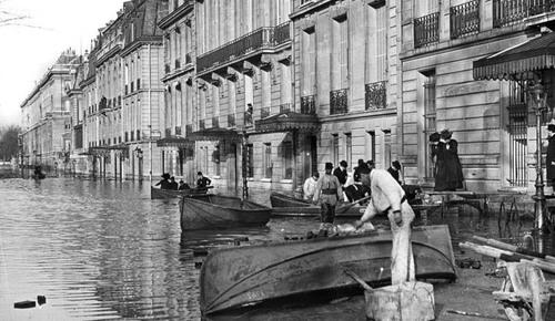 Il y a 106 ans... Paris affrontait la crue du siècle