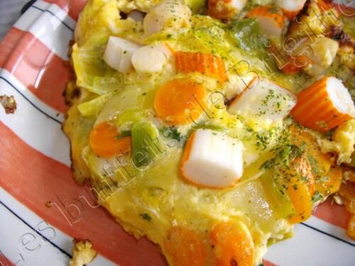 Omelette entre terre et mer