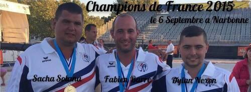 CHAMPIONNAT DE FRANCE - TRIPLETTES HOMMES - 2015 - NARBONNE
