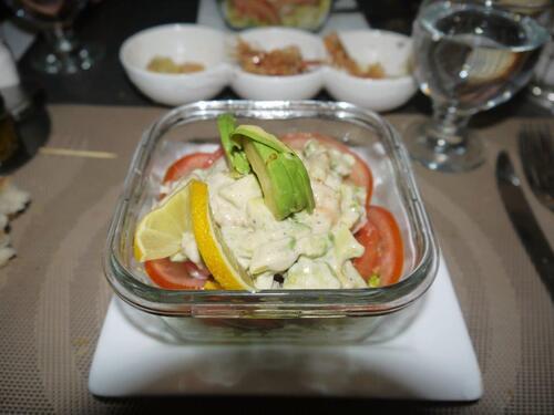 Avocat aux crevettes