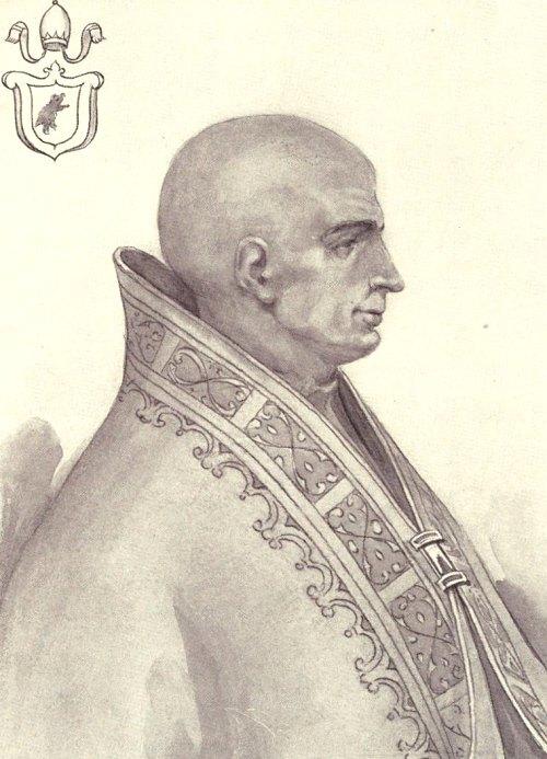 Le pape Lucius II (9 mars 1144 - 15 février 1145)