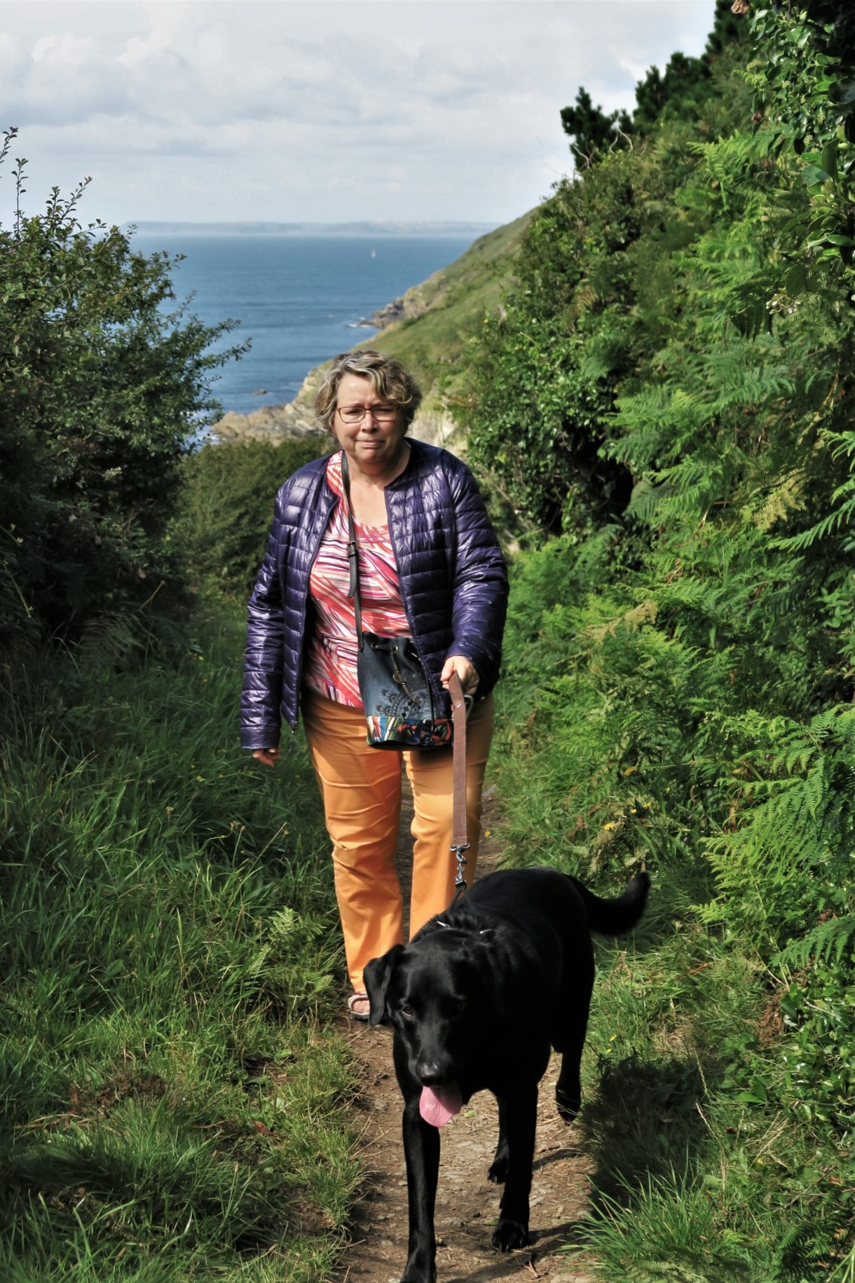 Wouafff : Sentier cotier au dessus de Polperro