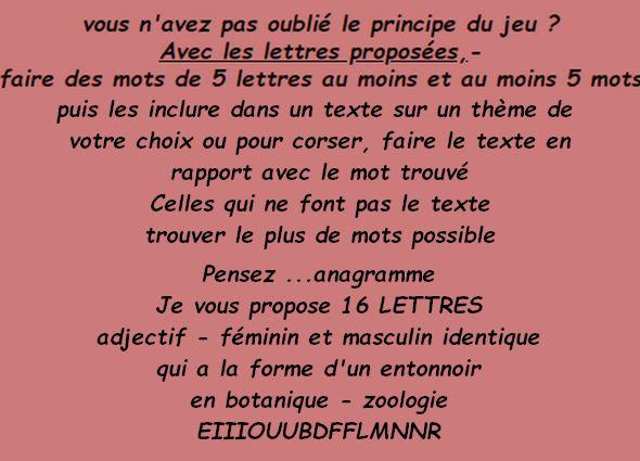 Jeu de Lettres n°190